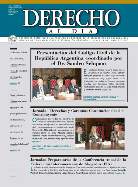 Tapa de Derecho al Día - Edición 107