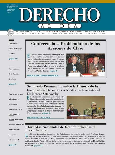 Tapa de Derecho al Día - Edición 108