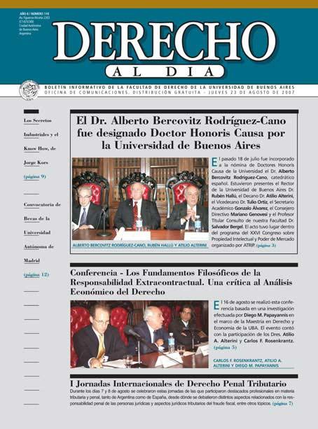 Tapa de Derecho al Día - Edición 110
