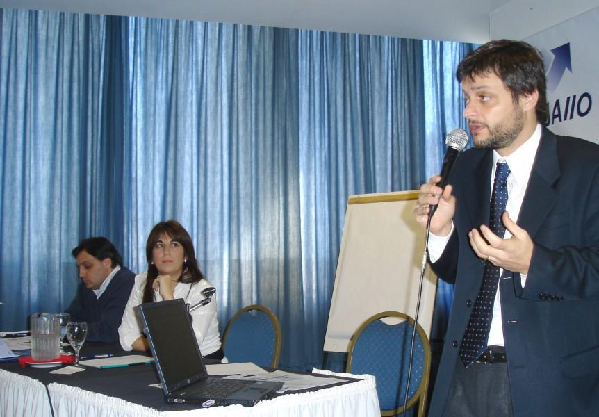 Federico Lago, Paula Rómulo y Gonzalo Álvarez