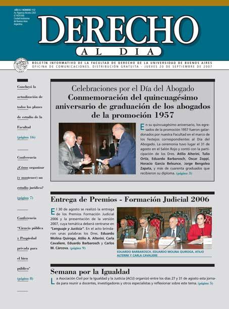 Tapa de Derecho al Día - Edición 112