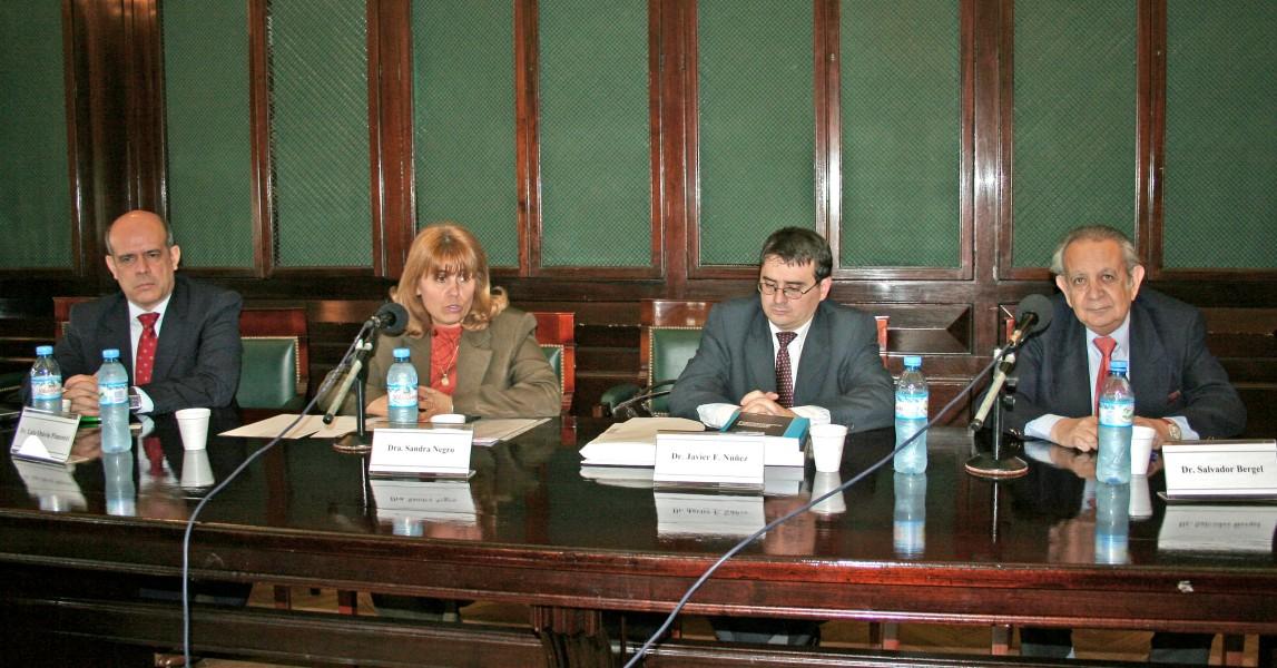 Luiz Pimentel, Sandra Negro, Javier F. Núñez y Salvador D. Bergel