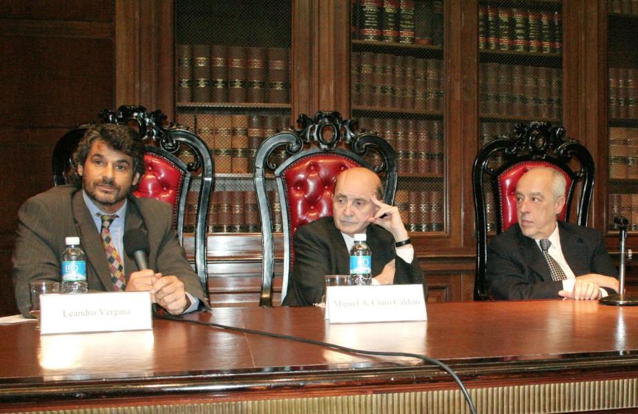 Leandro Vergara, Miguel Ángel Ciuro Caldani y Tulio Ortiz