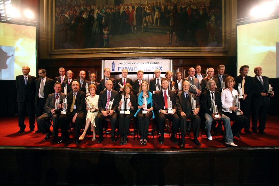 Periodistas galardonados por su labor en la última década
