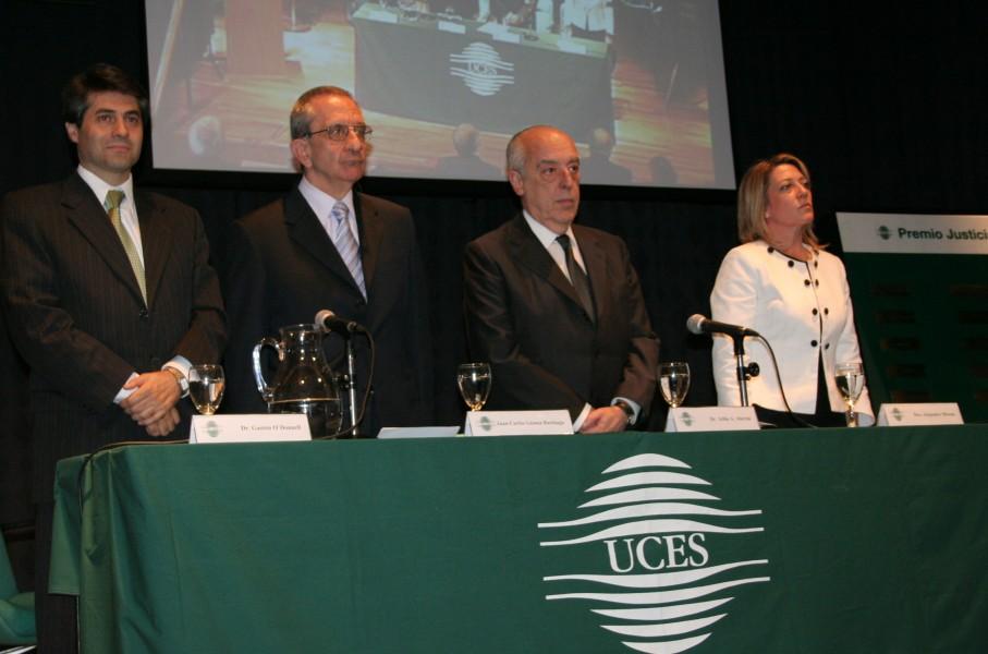 Gastón O´Donnell, Juan Carlos Gómez Barinaga, Atilio Alterini y Alejandra Mizzau