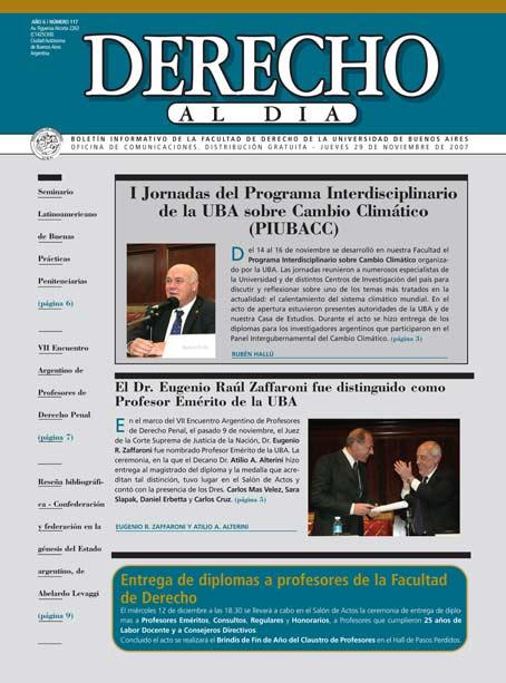 Tapa de Derecho al Día - Edición 117
