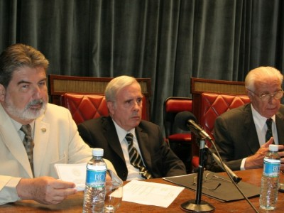 Carlos Cárcova, Tulio Ortiz y Carlos Mallmann