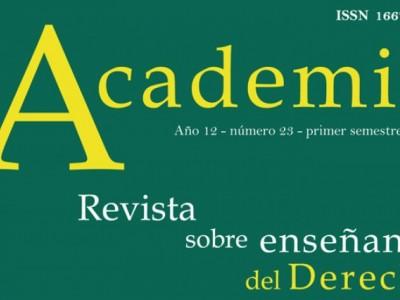 Nuevo número de la Revista Academia