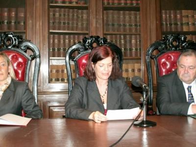 Carmen López Rendo, Mirta Beatriz Álvarez y Luis Rodríguez Ennes