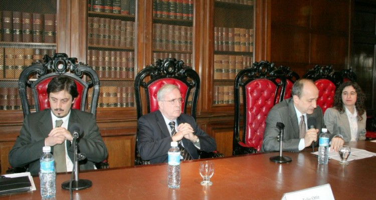 Gustavo Piantino, Tulio Ortiz, Ennio Rufino y Mary Beloff