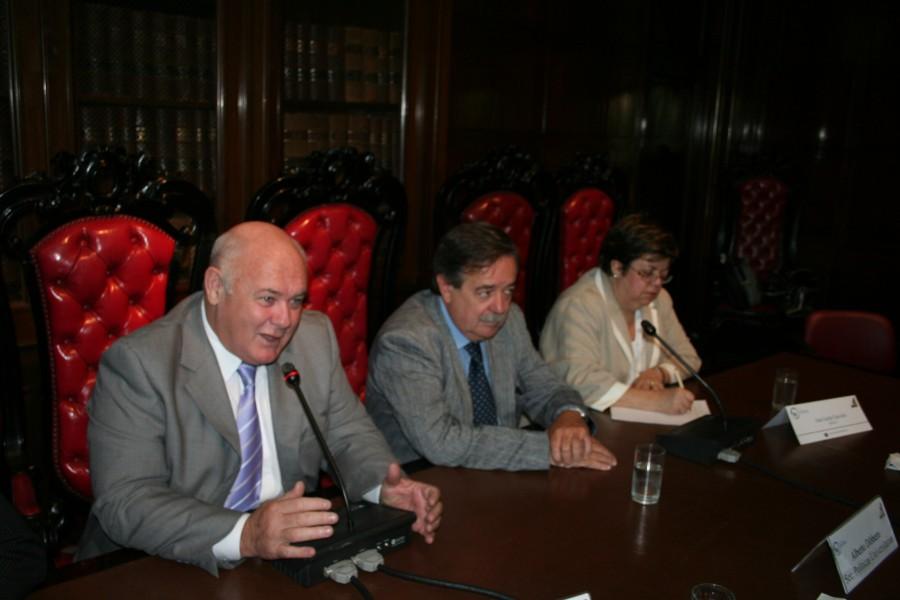 Rubén Hallú, Alberto Dibbern y Ana Lúcia Gazzola