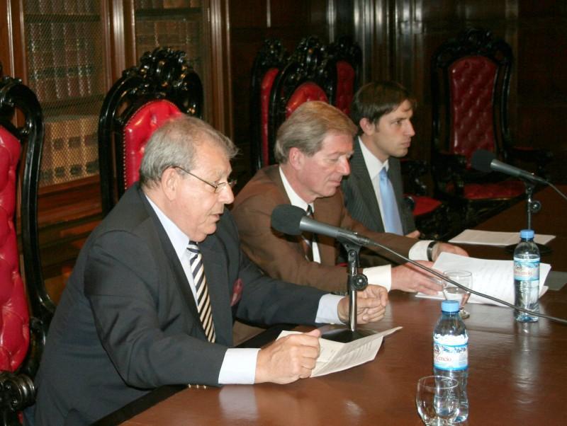 Julio B. J. Maier, Klaus Volk y Alberto Nanzer