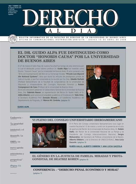 Tapa de Derecho al Día - Edición 120