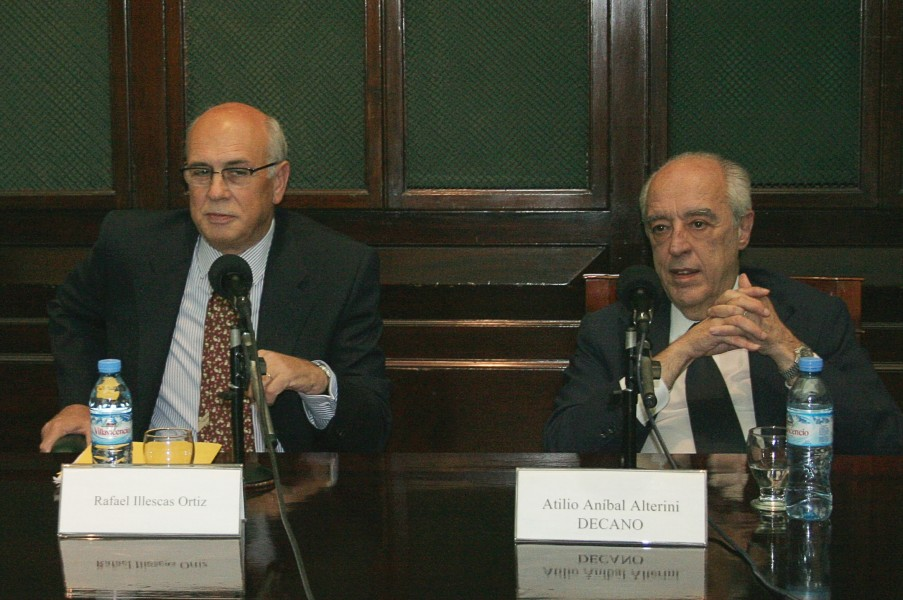 Rafael Illescas Ortiz y Atilio Alterini