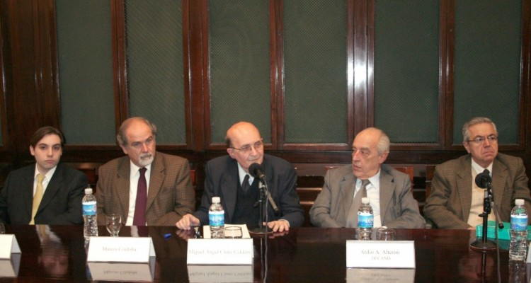Roberto Campos, Marcos M. Córdoba, Miguel Ángel Ciuro Caldani, Atilio Alterini y Rodolfo Vigo