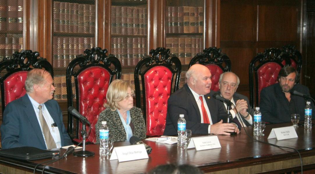 Ángel Díaz Barriga, Edith Litwin, Rubén Hallú, Atilio Alterini y Daniel Ricci