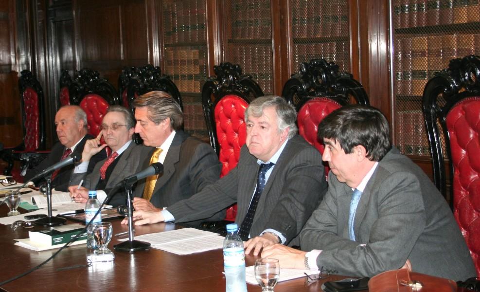 Juan Carlos Veiga, Ricardo Augusto Nissen, Daniel R. Vítolo, Ignacio Quintana y Emilio Beltrán
