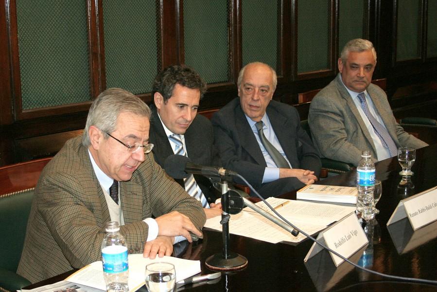 Rodolfo L. Vigo, Renato Rabbi-Baldi Cabanillas, Atilio A. Alterini y Enrique Zuleta Puceiro