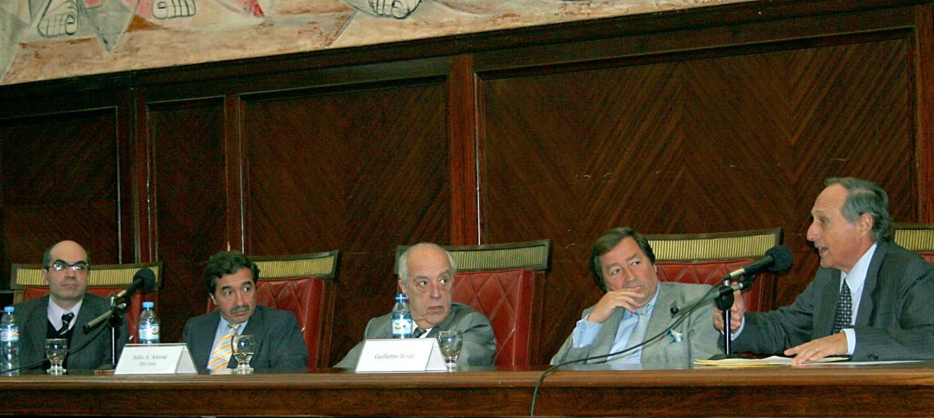 Néstor Solari, Jorge Lavalle Cobo, Atilio A. Alterini, Guillermo J. Borda y Alejandro Borda