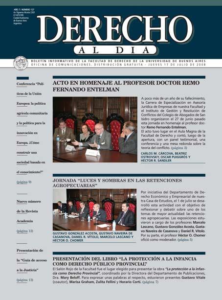Tapa de Derecho al Día - Edición 127