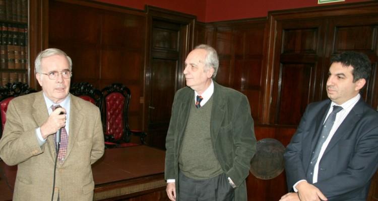 Tulio Ortiz, Eduardo Barbarosch y Alejandro Gómez