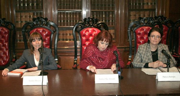 Natalia Moreno, Andrea Mac Donald y Patricia Barbado