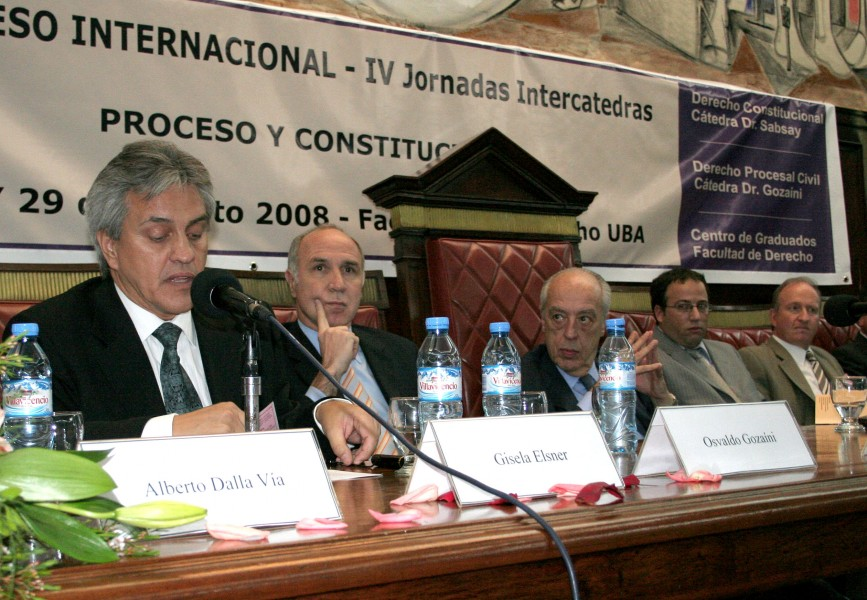 Osvaldo Gozaíni, Ricardo L. Lorenzetti, Atilio A. Alterini, Oscar Zoppi y Daniel Sabsay