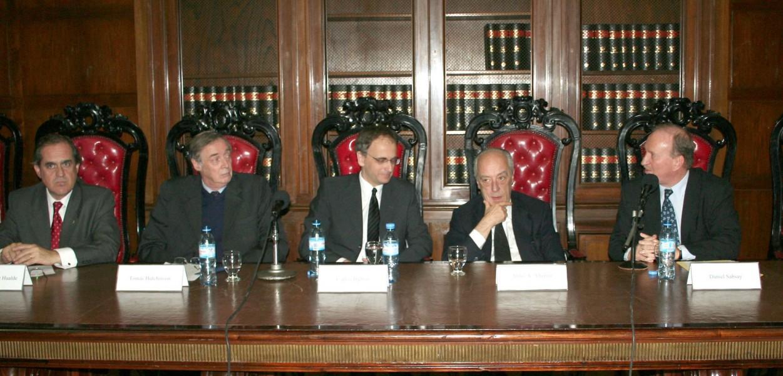 Alejandro Pérez Hualde, Tomás Hutchinson, Carlos Balbín, Atilio A. Alterini y Daniel Sabsay