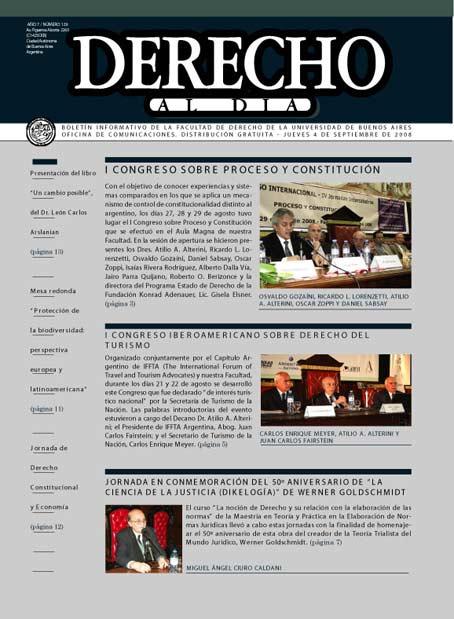 Tapa de Derecho al Día - Edición 129