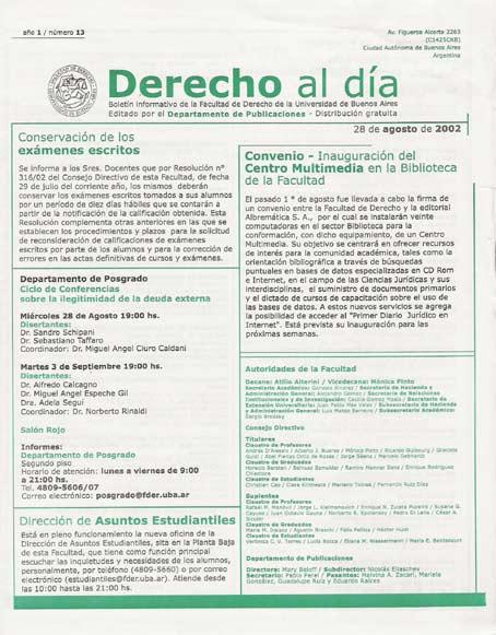Tapa de Derecho al Día - Edición 13