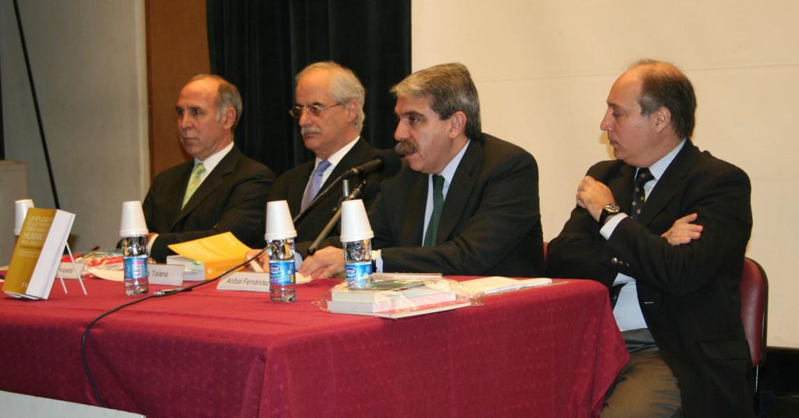 Ricardo L. Lorenzetti, Jorge Taiana, Aníbal Fernández y Víctor Abramovich
