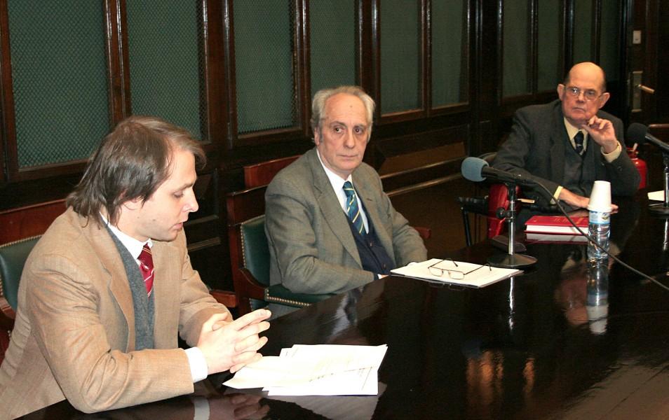 Iván Tolnay, Eduardo Barbarosch y Andrés D´Alessio