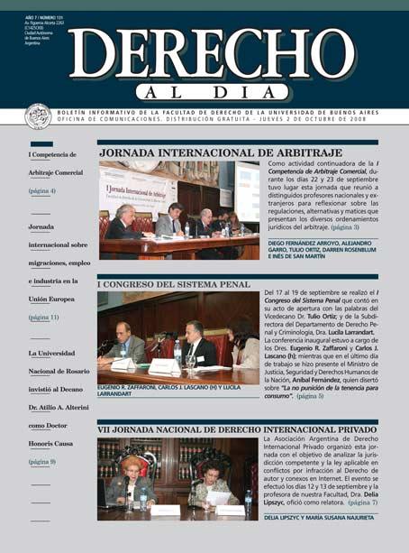 Tapa de Derecho al Día - Edición 131