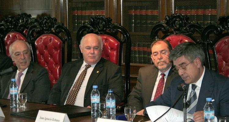 Atilio Alterini, Ruben Hallú, Juan Ignacio Echano y Ricardo de Ángel Yágüez