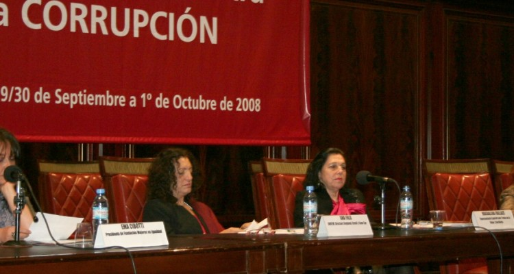 Ema Cibotti, Ana Falú, Magdalena Faillace y Monique Thiteux-Altschul
