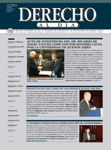 Tapa de Derecho al Día - Edición 133