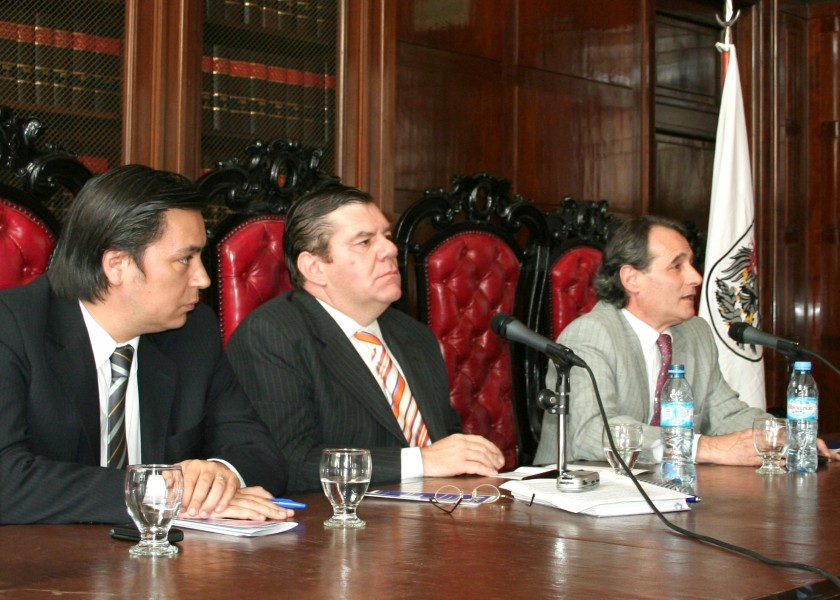 Daniel Presti, Guillermo Montenegro y Alejandro Lanús