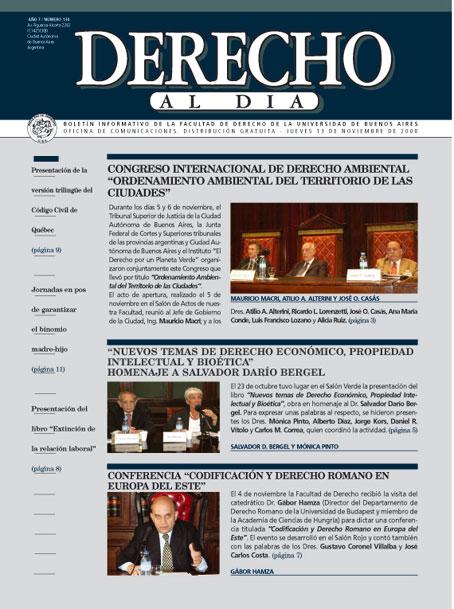 Tapa de Derecho al Día - Edición 134