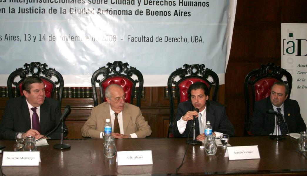 Guillermo Montenegro, Atilio A. Alterini, Marcelo Vázquez y Abel Fleming