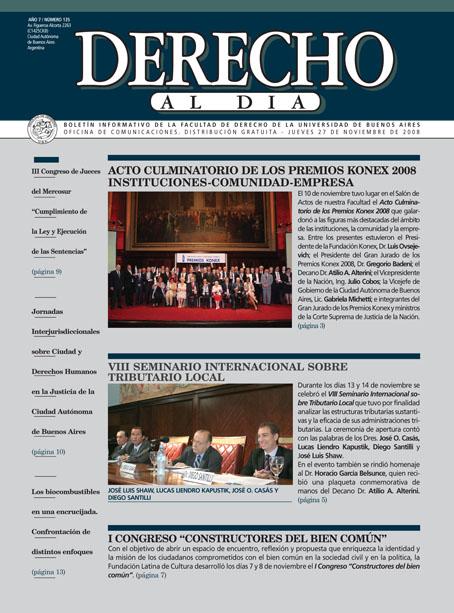 Tapa de Derecho al Día - Edición 135