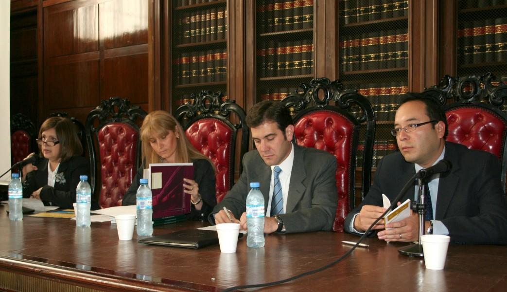 Ana María Bourimborde, Alejandra Lázzaro, Lorenzo Córdova Vianello y Ciro Murayama Rendón