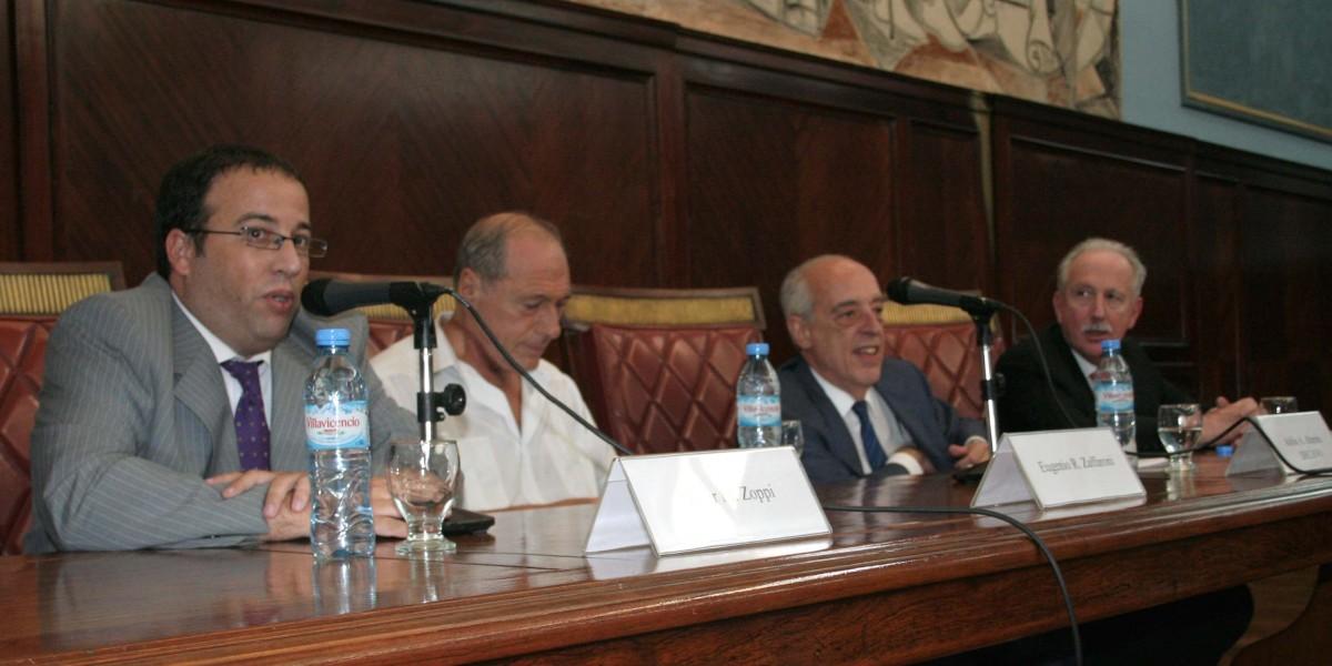 Oscar Zoppi, Eugenio R. Zaffaroni, Atilio Alterini y Jorge Kielmanovich