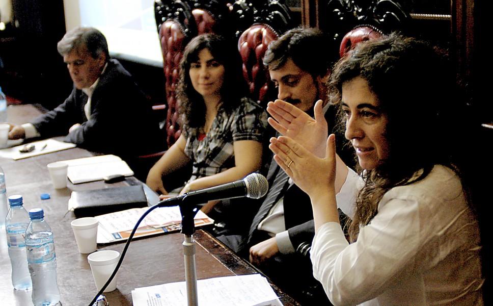 Gabriel Lerner, Gimol Pinto, Gustavo Piantino y Mary Beloff