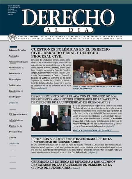 Tapa de Derecho al Día - Edición 137