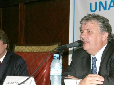 Amado Boudou y Juan Pablo Schiavi