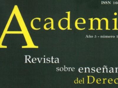 Nuevo número de la Revista Academia. Revista sobre enseñanza del Derecho