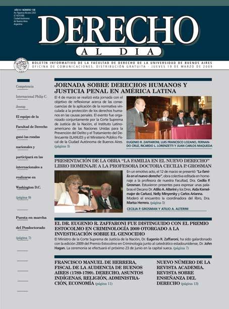 Tapa de Derecho al Día - Edición 138