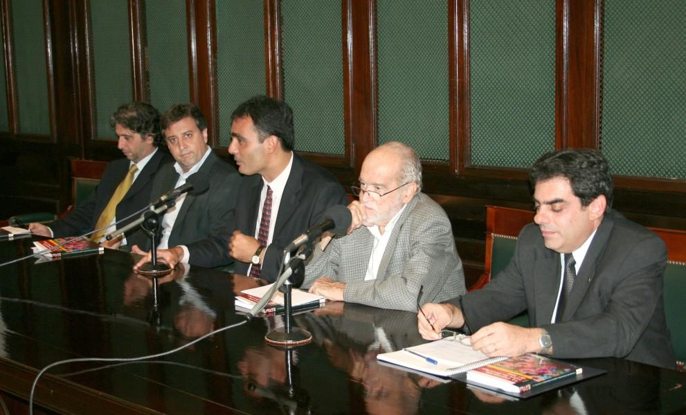Juan Pablo Mas Velez, Aldo Gallotti, Juan Antonio Seda, Carlos Eroles y Oscar García