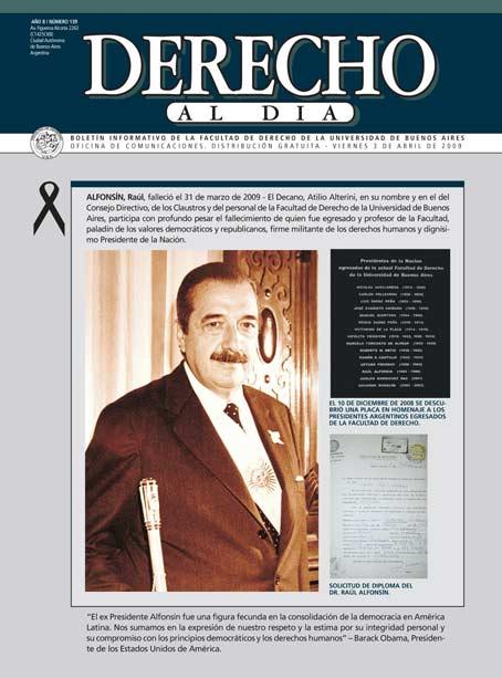 Tapa de Derecho al Día - Edición 139