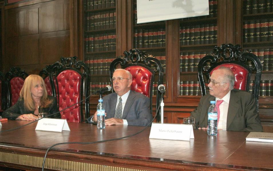 Graciela Jinich, Jorge Klainman y Mario Feferbaum